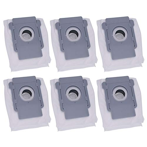 Hannets Lot de 6 sacs d'aspirateur de qualité supérieure compatibles avec iRobot Roomba S et i-Serie I Robot aspirateur I Roomba S9, i7 i7+ Accessoires Robot aspirateur n° i.6B