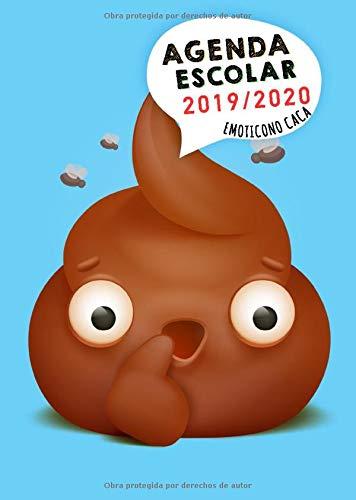 Agenda Escolar 2019 2020: Agenda Escolar 2019-2020 Emoticono Caca | Septiembre 2019 - Sgosto 2020 | Tamaño 15x21cm (A5) |