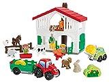Jouets Ecoiffier -3021 - La ferme Abrick – Jeu de construction pour...