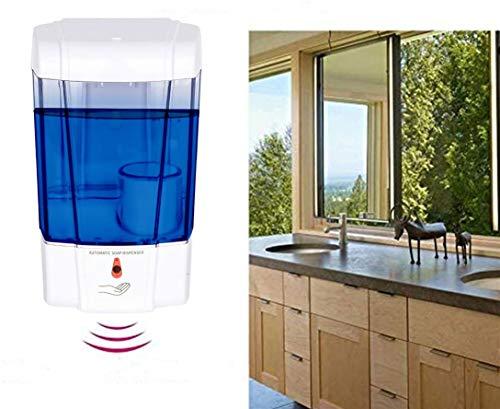 Automatischer Seifenspender, 700 ml Seifenlotionspumpe zur Wandmontage mit IR-Sensor, Seifenspender mit LED-Anzeigelampe für Küchen Badezimmer Krankenhäuser, stanzfrei