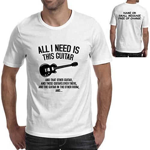 MGEAR Grappig Bedrukt Alles wat ik nodig heb is dit Gitaar Frontier T-Shirt op maat Tekst Gedrukt T-shirt top Verjaardagscadeau