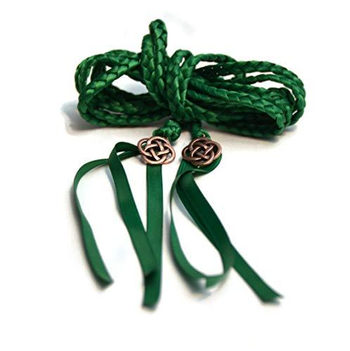 Divinity Braid Emerald Copper Celtic Knot Wedding Handfasting 6ft Cord #Wedding #WeddingCeremony #DivinityBraid #Celtic #Handfasting #HandfastingCord #CelticWedding #CelticKnot #DreamWedding
