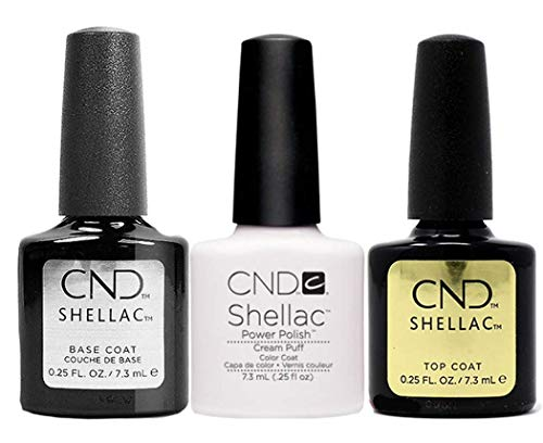 CND Original CND Shellac Cream Puff plus Base Coat plus Top Coat 7.3 ml, 1er Pack (1 x 22 ml)