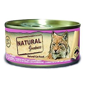 Natural Greatness Greatness Comida Húmeda para Gatos de Filete de Atún y Gambas. Pack de 24 Unidades. 70 gr Cada Lata 2