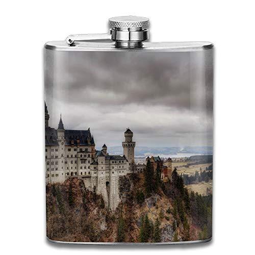 iuitt7rtree Neuschwanstein Castle Portable Stainless Steel Flagon Liquor Flask