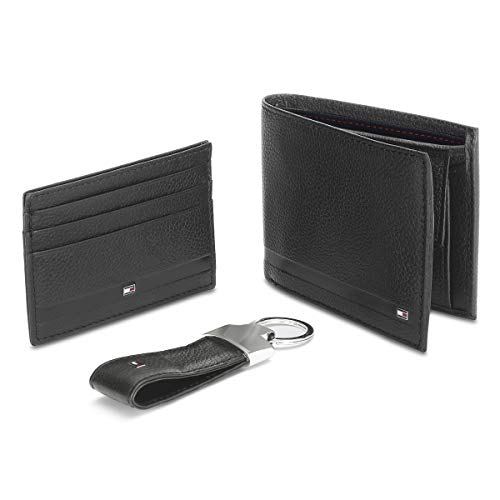 Tommy Hilfiger Black Men's Wallet, Card Case and Key Fold Combo (TH/BLACKPOOL/WALL/CC/KF/01)