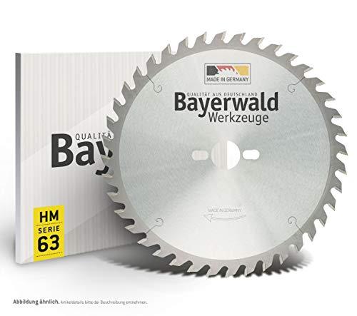 Bayerwald - HM Kreissägeblatt - Ø 254 mm x 2,8 mm x 30 mm | Hohldach Flachzahn negativ (48 Zähne) | Kombinebenlöcher | Spezialsägeblatt für Formatschnitte
