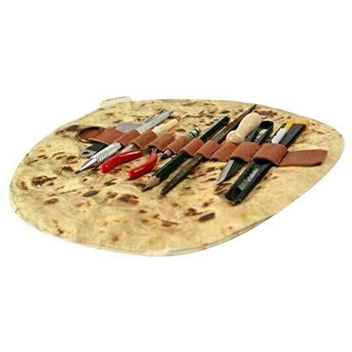 Syfinee - Astuccio per matite, Lettere, Burrito, Pancake, Pizza, Strumenti di cancelleria, Arrotolato, Collezione per Trucchi, Scuola