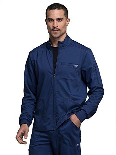 CHEROKEE Workwear WW Revolution Men's Men's Zip Front Jacket, WW320, M, Navy