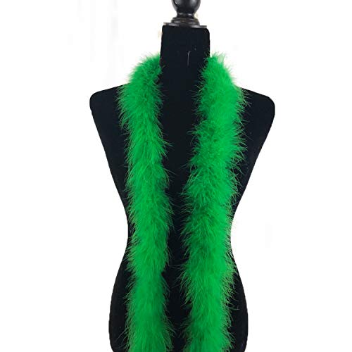 Fukang Feather Marabou Feather Boas Soft Feather Boa (Kelly Green)