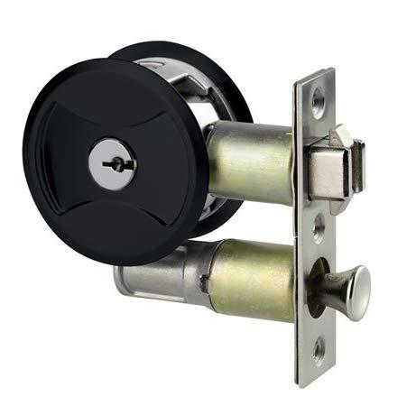 Keyed Pocket Door Lock CL4ENTR Black