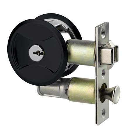 Keyed Pocket Door Lock CL4ENTR Black