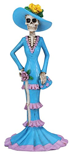 Dod Blue Senorita Mexican Traditional Skeleton Figurine by Summit