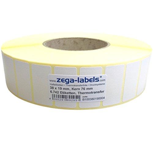 950 Stück Kern76 mm Zebra ZM400 102 x 152 mm Thermotransfer Etiketten Rolle