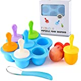 Silicone Popsicle Molds, Ice Pop Molds, Storage Container for Homemade Food, Kids Ice Cream DIY Pop...