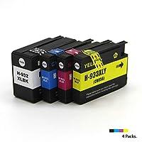 932XL製造のインクカートリッジ。HPOfficejet 7610 7510 7612 7110インクジェットプリンターの代替品と互換性があり、効果はオリジナルと同等です。-4color