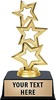 Crown Awards Gold Star Trophies with Custom Engraving, 6