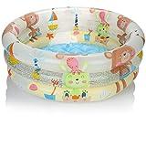 com-four® Planschbecken rund für Kinder - Kinderpool aufblasbar - Schwimmbecken - Kleiner Aufstellpool für den Garten - ca. 61 x 22 cm