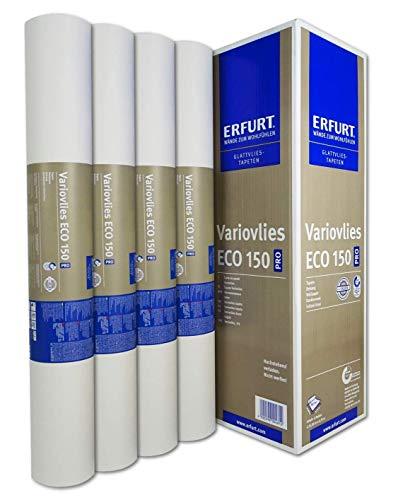 Erfurt Variovlies Eco 150 Ecovlies 75m² weiß Glattvlies Renoviervlies 4 Rollen