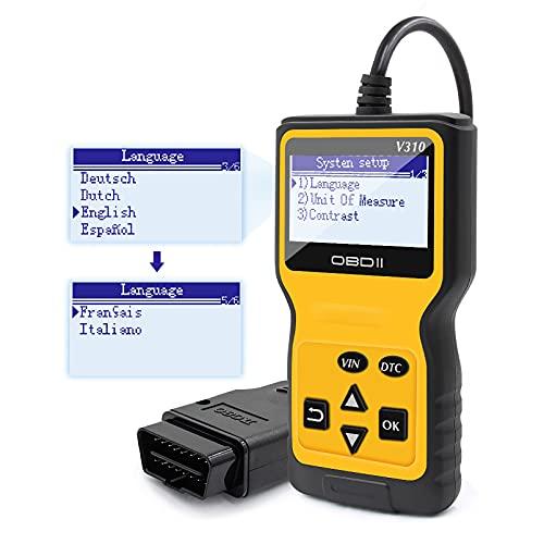 Hot CG OBD2 Code Reader, Universal EOBD Scanner, Professional Automotive Vehicle Code Scanner, V310 Car Error Reader, Enhanced Car Check Engine Light Code Scanner, Automotive Error Analyzer