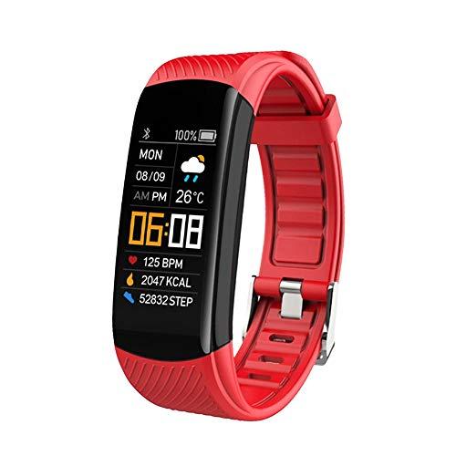 LHTCZZB Ajuste de brillo automático Pulsera inteligente Pantalla táctil completa Bluetooth Watch Gestión de fitness Monitoreo de ritmo cardíaco Modo de ejercicio Modo de ejercicio Duración Duradera Re