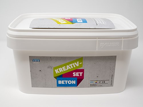 Elibrero Kreativ-Set Beton 10 kg | Feinbeton zum Gießen & Basteln | Feinkörnung (0,1 mm - 4 mm)