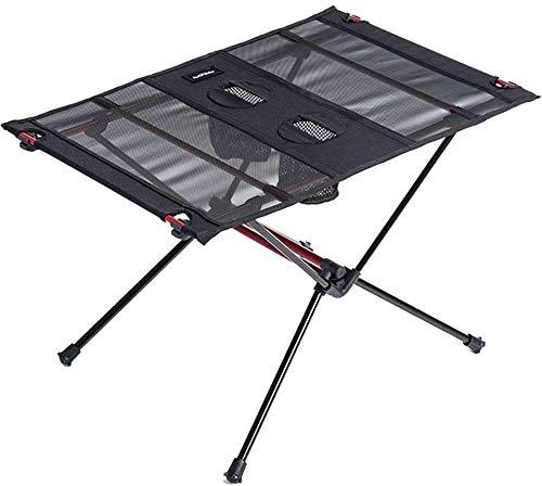 Voyage en plein air Portable Camping Table de pique-nique Camping Ultraléger Pliable Table avec double Coupe de stockage d'usure résistant à la déchirure for Outing voyage plage de charge 66-Pound