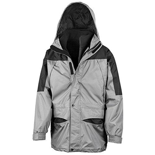 Résultat Alaska 3-in-1 coupe-vent imperméable Jacket Mens Outd - Grey/Black - XL