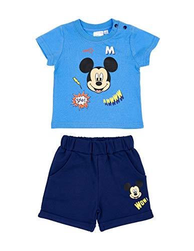 Ensemble Short et T-Shirt bébé garçon Mickey Bleu/Marine de 3 à 24mois - Bleu/Marine, 3 Mois
