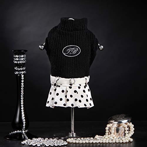 Trilly Tutti Brilli Michelle wollen jurk met pois rok en thermische patches zwart, S/M - 1 product