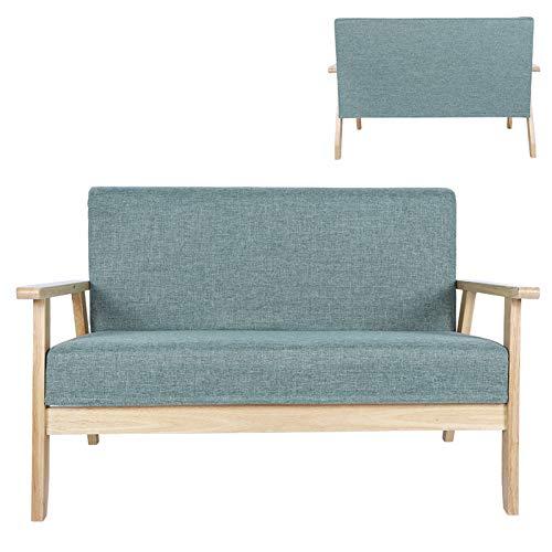 AYNEFY Sofá cama de 2 plazas, de madera, para dormitorio, salón, oficina, jardín