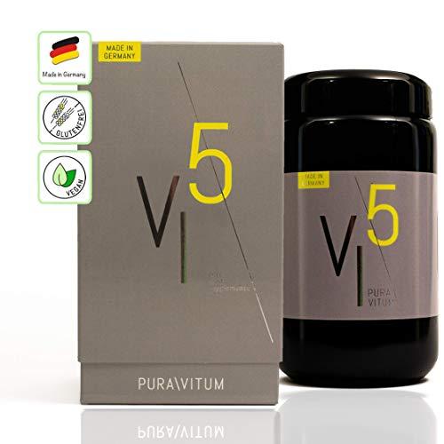 Puravitum VI5 – Vital Immun natuurproductie: ondersteunt het immuunsysteem, sterk gedoseerd: maandration 90 capsules, veganistisch, made in Germany