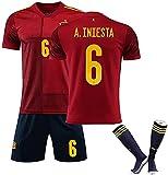 SXMY Uniform des spanischen Fußball-Trikots für Herren/Trainingshemd, Ramos Inniesta ISCO Kit...