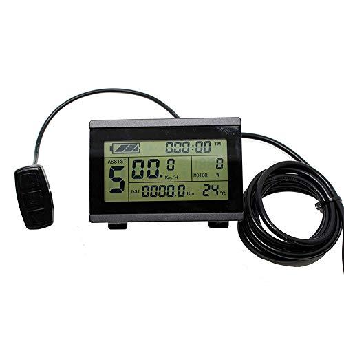 FADDR LCD3-Display mit Bedienfeld für elektrische Fahrradteile, 36 V / 48 V ebike KT Controller Intelligenter Kilometerzähler, wasserdicht mit Datum der Steckeraufnahme Zeigen