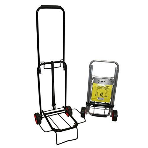Megaprom Kofferroller bis 30kg Sackkarre Einkaufswagen Transporttrolley Transportroller Transportwagen Gepäcktrolley Klappbar mit Spanngurt