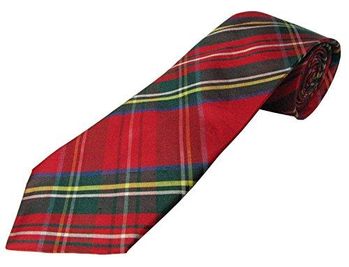 Cravate en soie pour homme Motif tartan - Multicolore - Taille unique