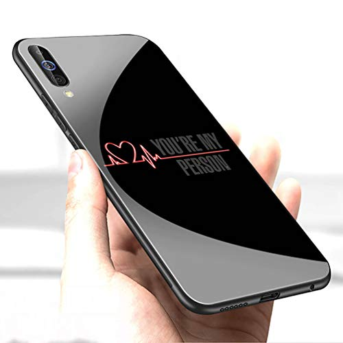Luxury Cover for Samsung Galaxy S10 Plus Phone Case,9H Tempered Glass Back Cover Soft Silicone Anti Scratch Bumper Design LC-117 Grey%27s Grey is Anatomy TV Protective Case