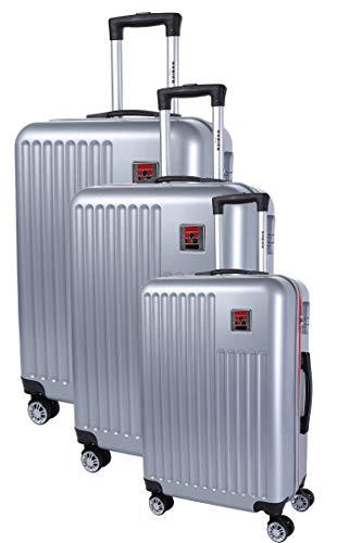 Rodier Set de 3 Valises Koffer-Set 48 Centimeters Silber (Silver)