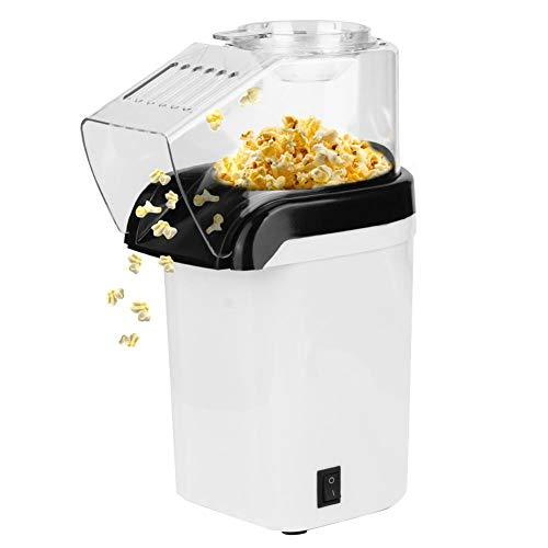 Corn Popper - 220-240V Küche Mini Automatische elektrische Antihaft-Mais-Popcorn-Maschine Weiß mit transparenter oberer Abdeckung