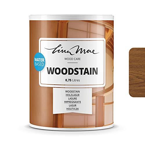 Holzlasur (Lack) mit Satinierung Oberfläche Wasserbasiertem - Offenporiger Protektor für Dekorieren und Schützt Frischholz und Altholz Ideal für Stühle, Türen und Tische (750 ml, Eiche)