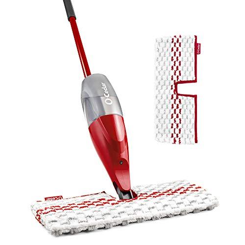 O-Cedar ProMist Max, Spray Mop with 1 Extra Refill, Red