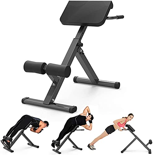 Yinguo 45 Degree Back Hyper Extension Bench, Adjustable Roman Chair, Back...