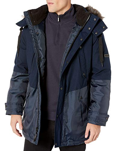 Marc New York by Andrew Marc Men's Maxfield Hooded Down Jacket, Ink, X-Large