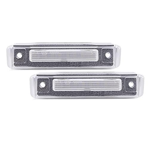 WYYUE 2pc Luces de MatríCula, Impermeable Licencia Número Lámparas Compatible con SL-Klasse R129 1989-2001 Für E-klasse S124 1985-1996 Luces traseras Plate Lights de Trasero