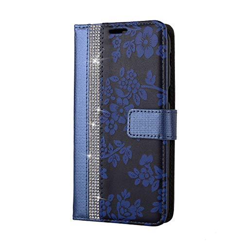 Galaxy A5 2017 Hülle, SONWO PU Leder Brieftasche Flip Schutzhülle, TPU Bumper Flip Schutzhülle Kompatibel Samsung Galaxy A5 2017 mit Karte Schlitz, Blau