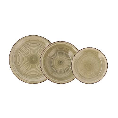 QUID Vita Vajilla para 6 personas, 18 piezas, cerámica gres, Natura