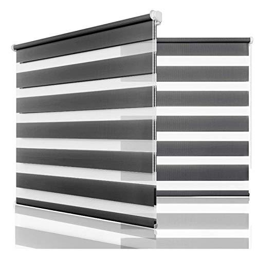 EEUK Persianas enrollables para Windows Blackout Persianas Tamaño personalizadoFiltrado de luz enrollables Zebra para el Control de la luz del hogar y la privacidad190*200cm