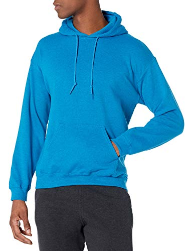Gildan Men's Fleece Hooded Sweatshirt, Style G18500, Antique Sapphire, Large