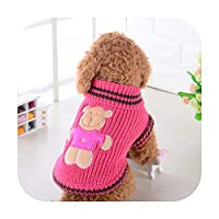 ペットセーター犬海軍セーターVIP服秋と冬のセーターセーターテディ服用品-[リトルベアセーター]-レッド-S [着用する約6〜8ポンド]