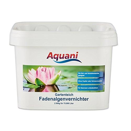Aquani Fadenalgenvernichter Gartenteich 2.500g Algenmittel zum effektiven entfernen von Fadenalgen im Teich auch ideal als Algenvernichter/Teichpflege für Koi und Schwimmteich mit Algen geeignet